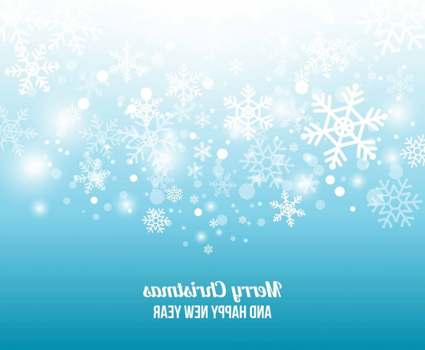 Free Winter Vector: Free Winter Snowflake Background Vector