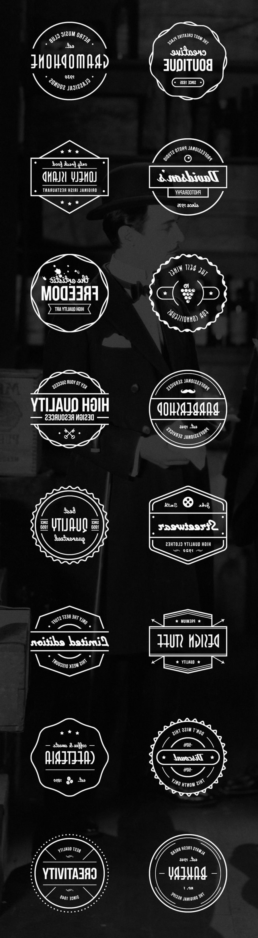 Vector Freebies: Freebie Vector Vintage Badges Ai Eps
