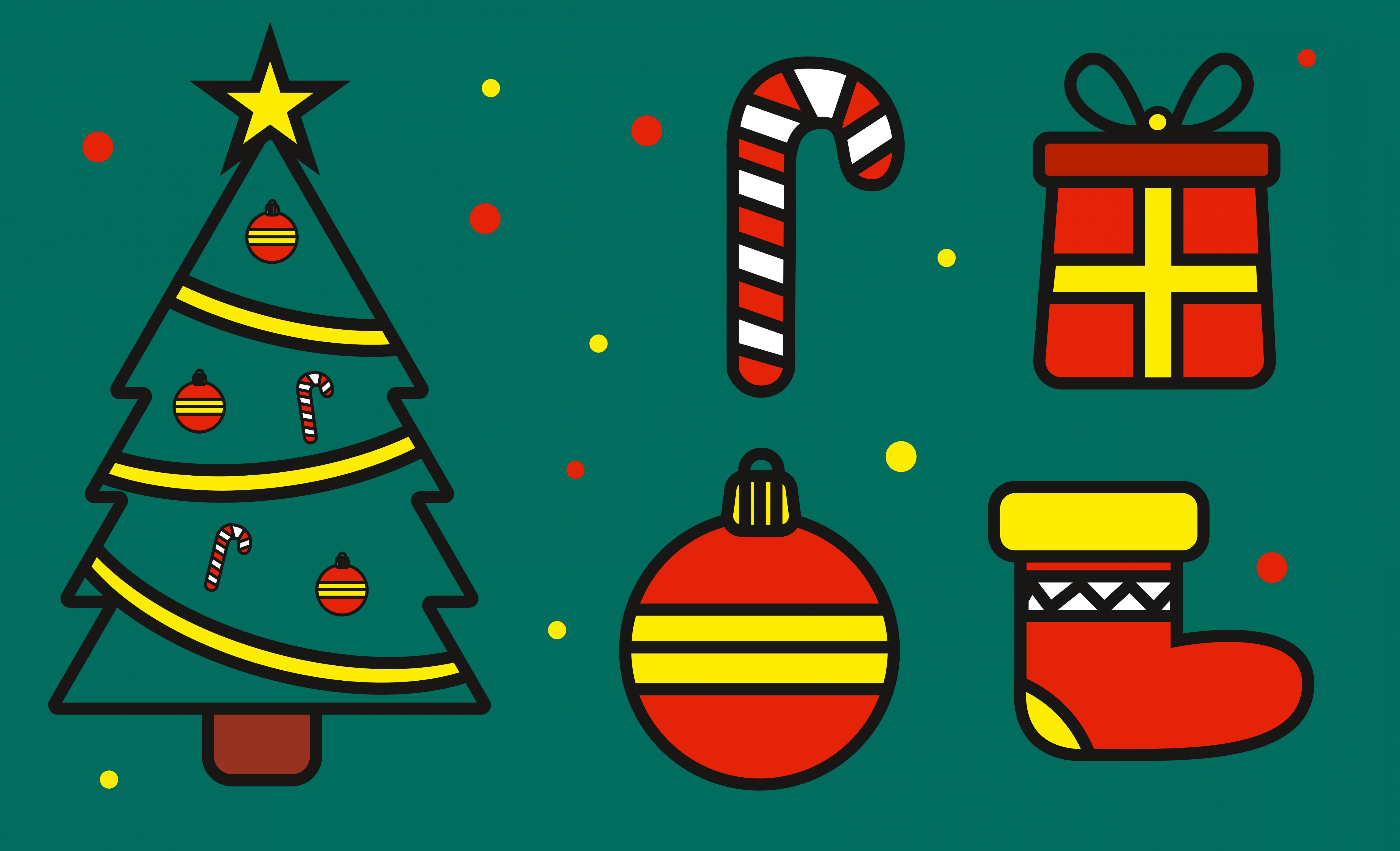 Vector Freebies: Freebies Free Little Christmas Vector Set