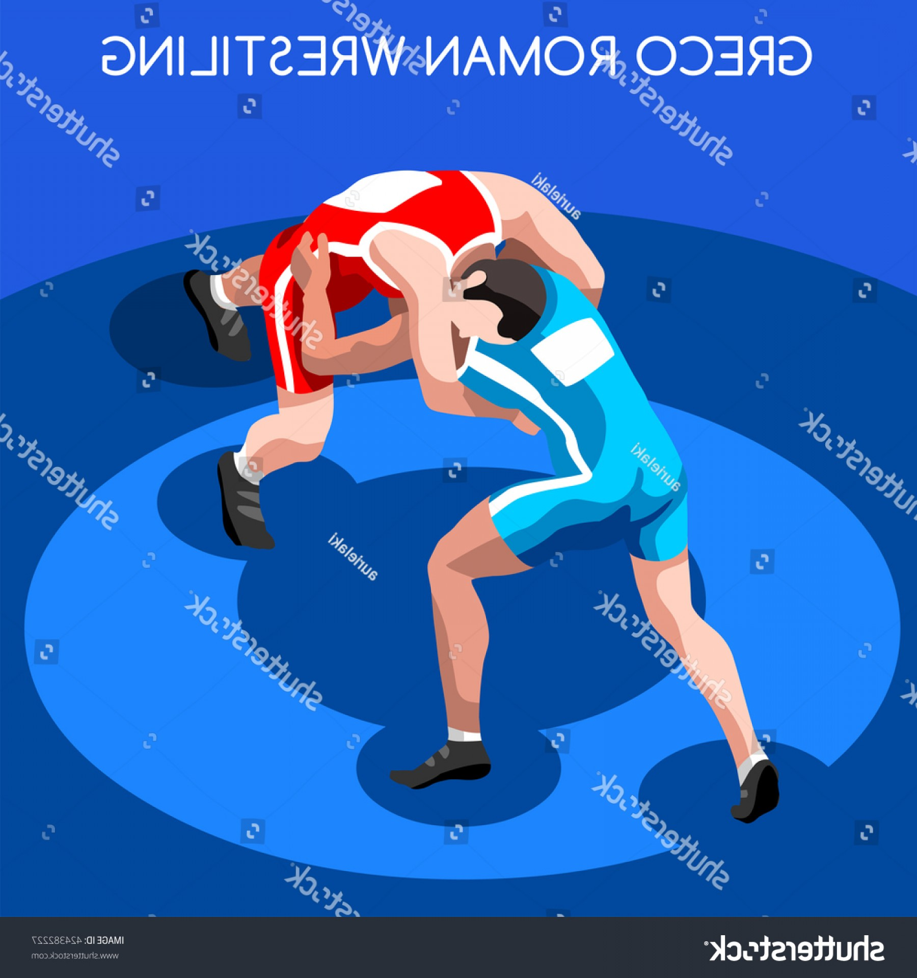 Vector Wrestling Audience: Freestyle Wrestling Greco Roman Athletes Sportsman
