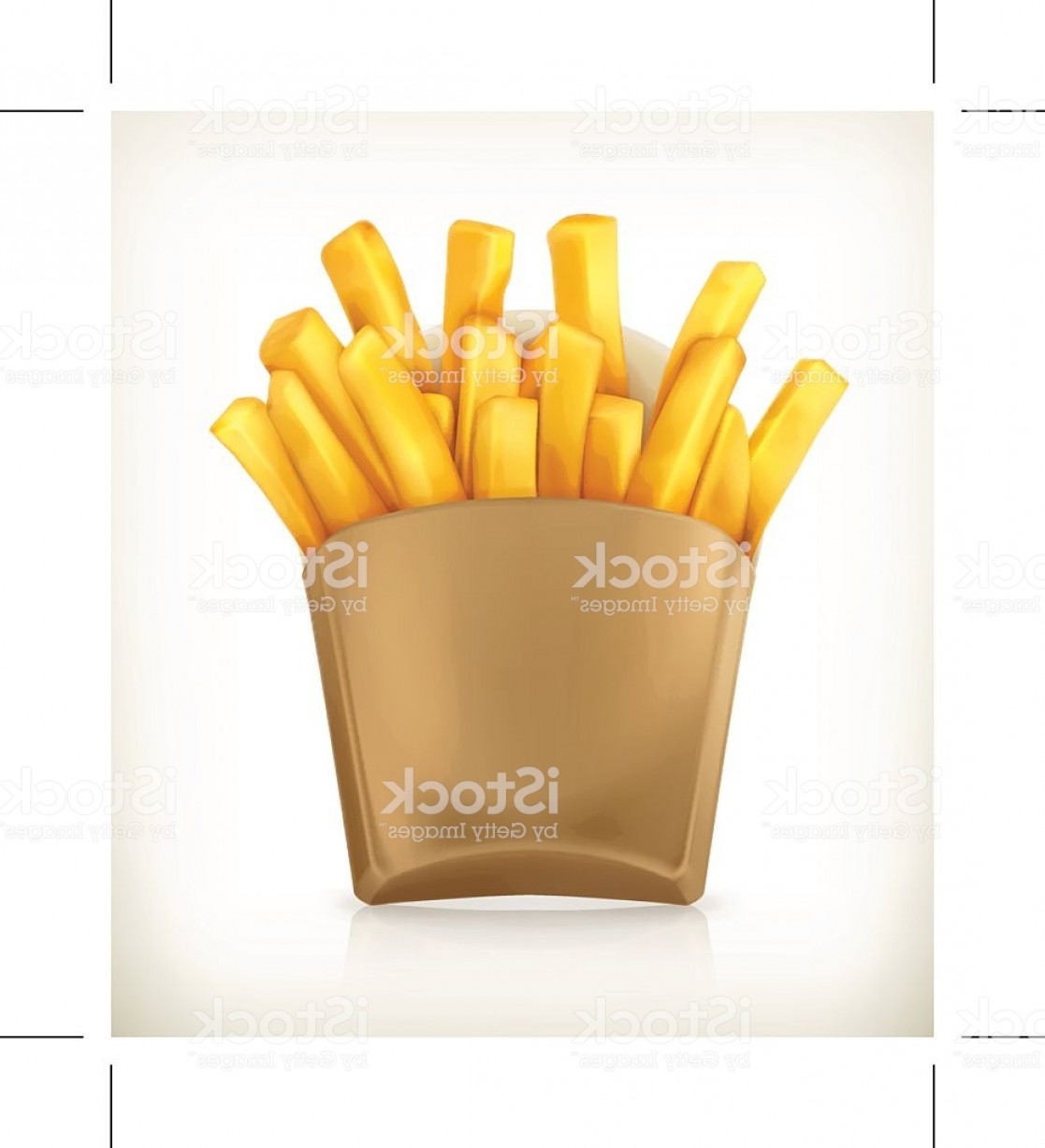 Fries Vector: French Fries Vector Icon Gm