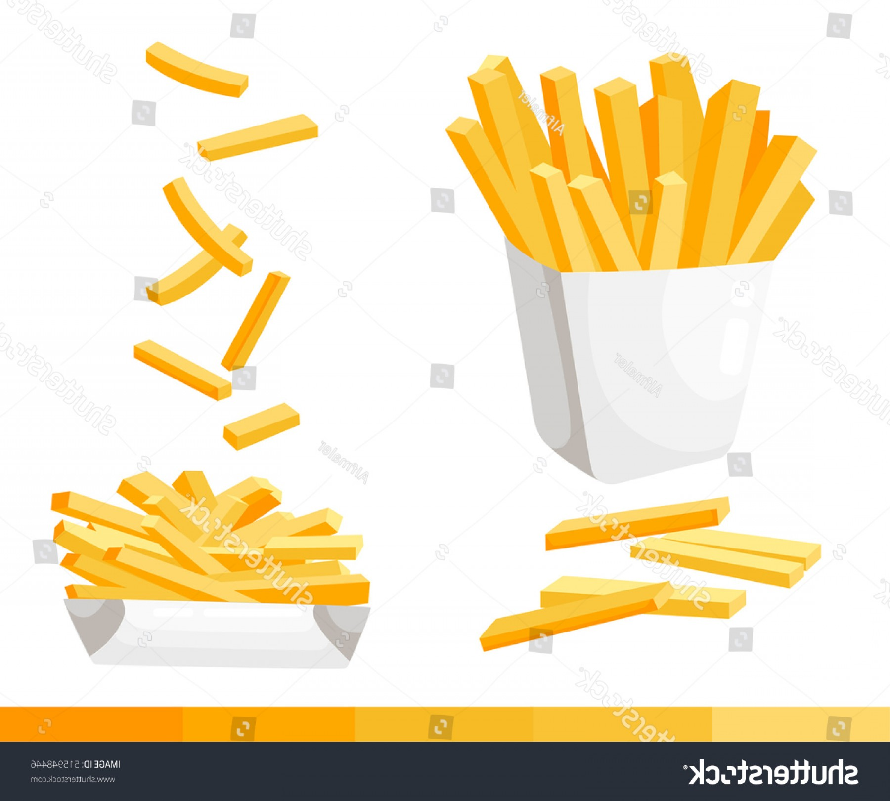 Fries Vector: French Fries Vector Illustration Flat Design