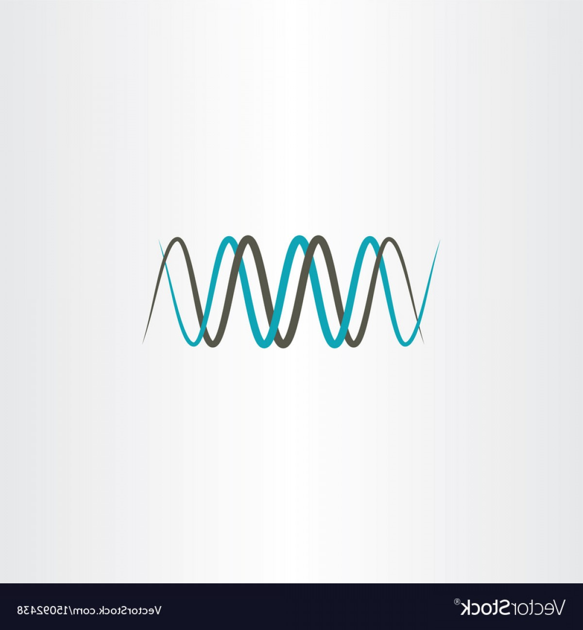 Frequency Icon Vector: Frequency Wavelength Logo Symbol Vector