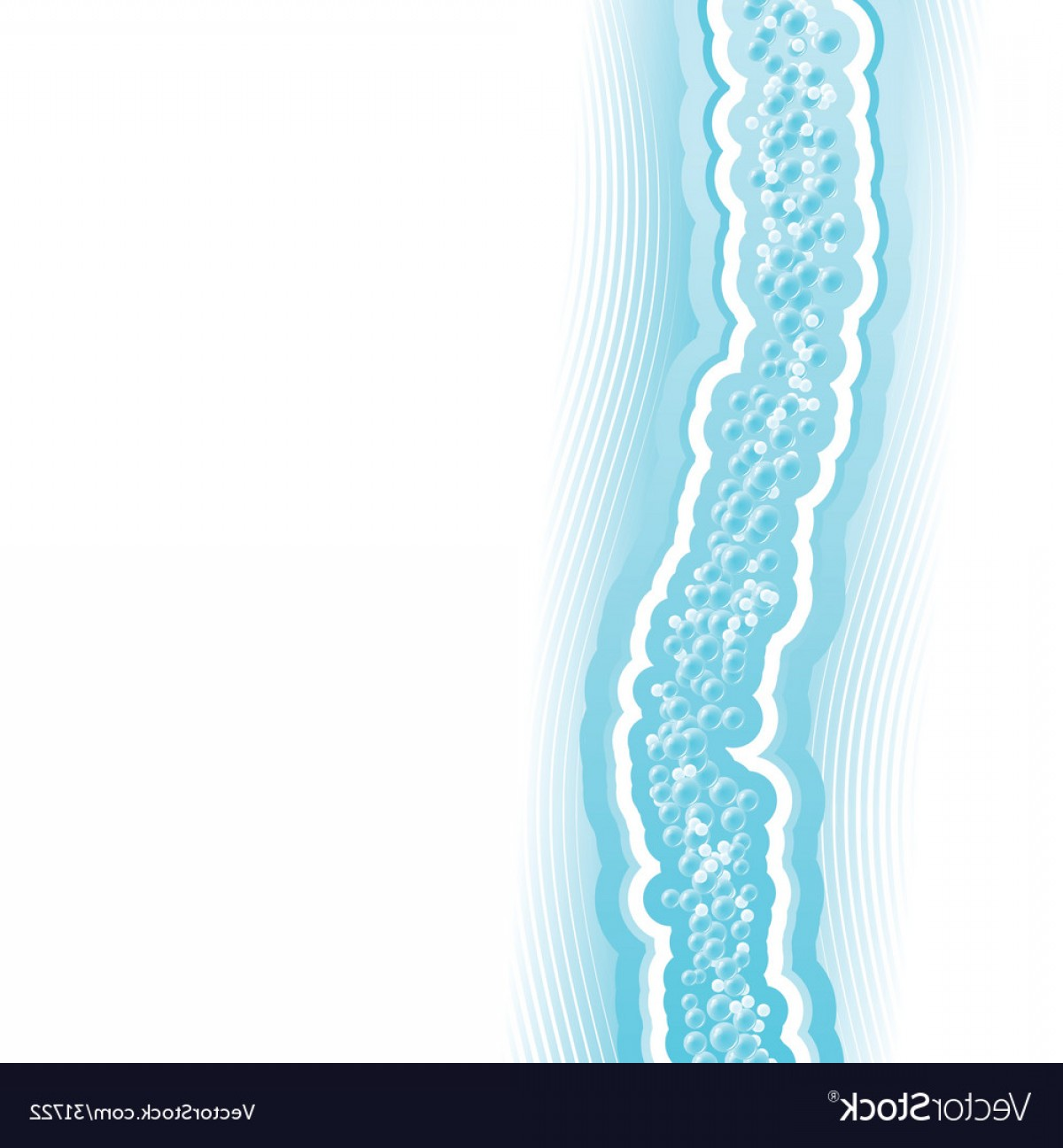 Water Flow Vector: Fresh Lined Art Water Flow Vector