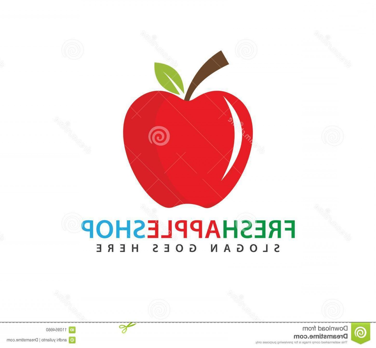 Red Apple Vector Logo: Fresh Red Apple Fruit Vector Logo Design Fresh Red Apple Fruit Vector Logo Design Template Image