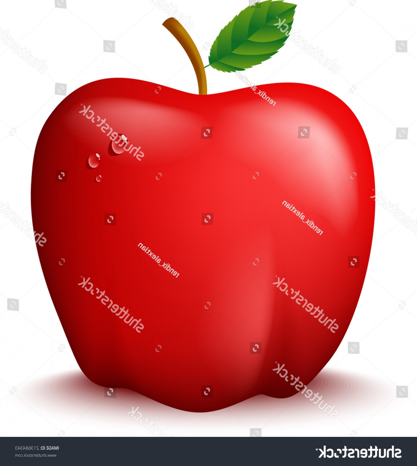Red Apple Vector Logo: Fresh Red Apple Vector Illustration