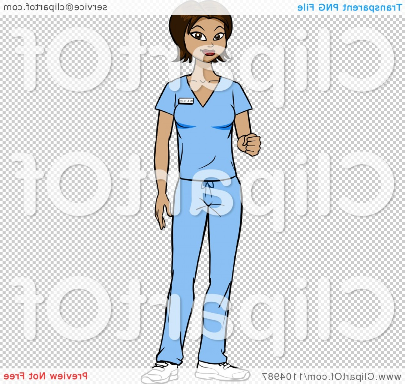 Nurse Juggling Vector: Friendly Hispanic Nurse Surgeon Or Doctor In Scrubs Holding Out Her Knuckles