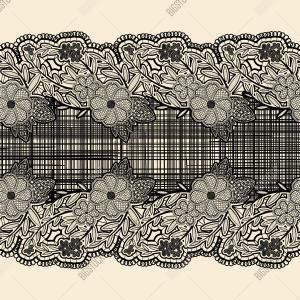 Lace Ribbon Vector: Free Lace Trim Vector