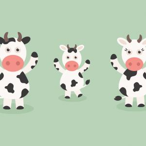 Vector Cartoon Free Clip Art: Free Vector Cartoon Cow Set