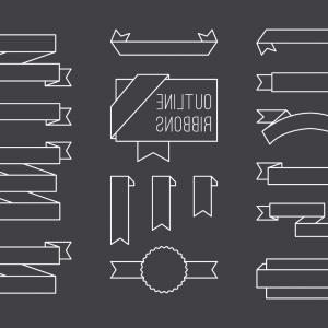 Hipster Vector Ribbon: Free Vintage Label And Ribbon Vectors