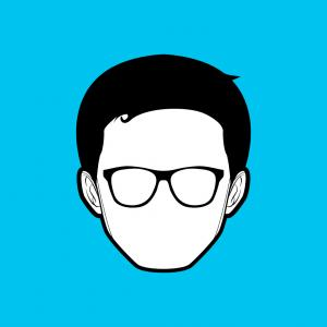 Nerd Vector: Cartoon Boys Face Nerd Glasses Set