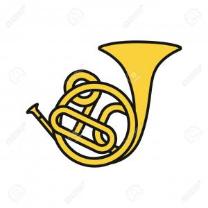 French Horn Vector: French Horn Wind Musical Instrument Vector