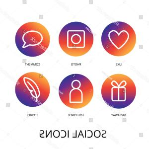 Instagram App Icon Vector: Apple Iphone Icons Social Media Facebook Instagram Twitter Snapchat Application Screen Smartphone Starting Social Sankt Image