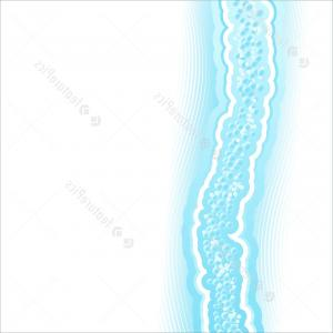 Water Flow Vector: Abstract Water Flow Background With Bubbles Vector Clipart