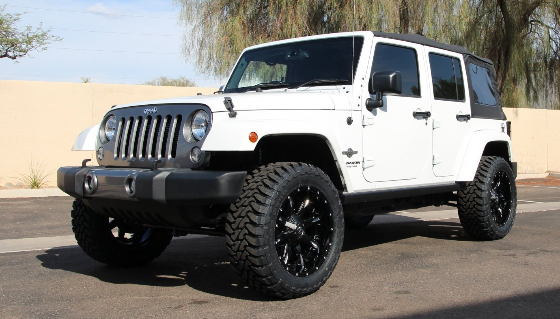 2014 Jeep Wrangler Vector: Fuel Nutz Black Milled Multi Piece On Jeep Wrangler W Specs