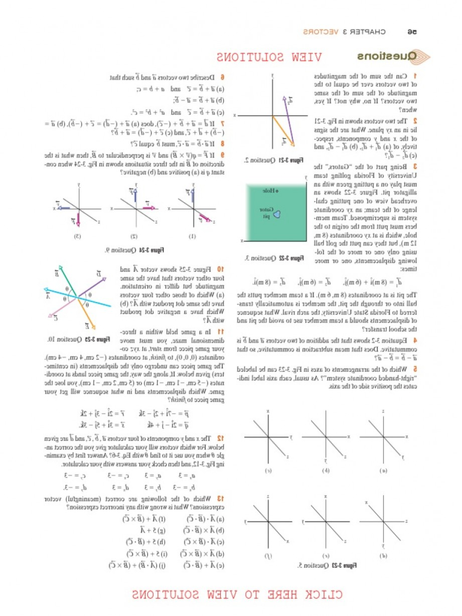 Coordinate Plane Vector Magnitude Direction: Fundamentals Of Physics Extended E Ch Solutions