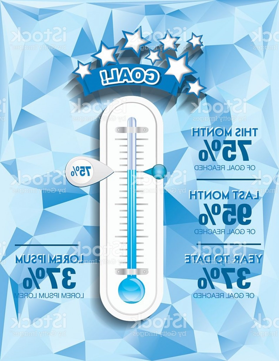 Charity Meter Vector: Fundraising Charity Goal Thermometer Templat Gm