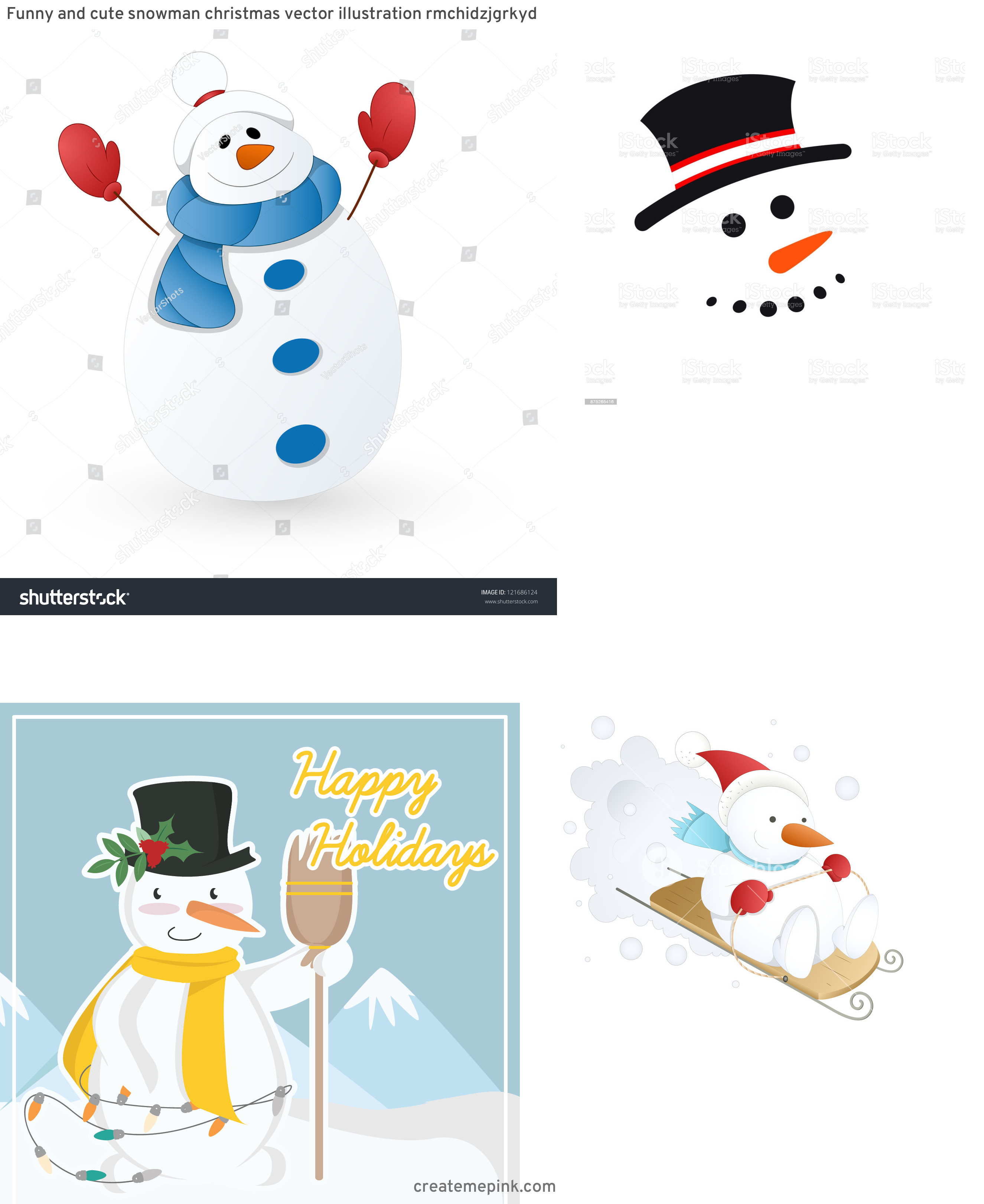 Cute Snowman Vector Illustration: Funny And Cute Snowman Christmas Vector Illustration Rmchidzjgrkyd