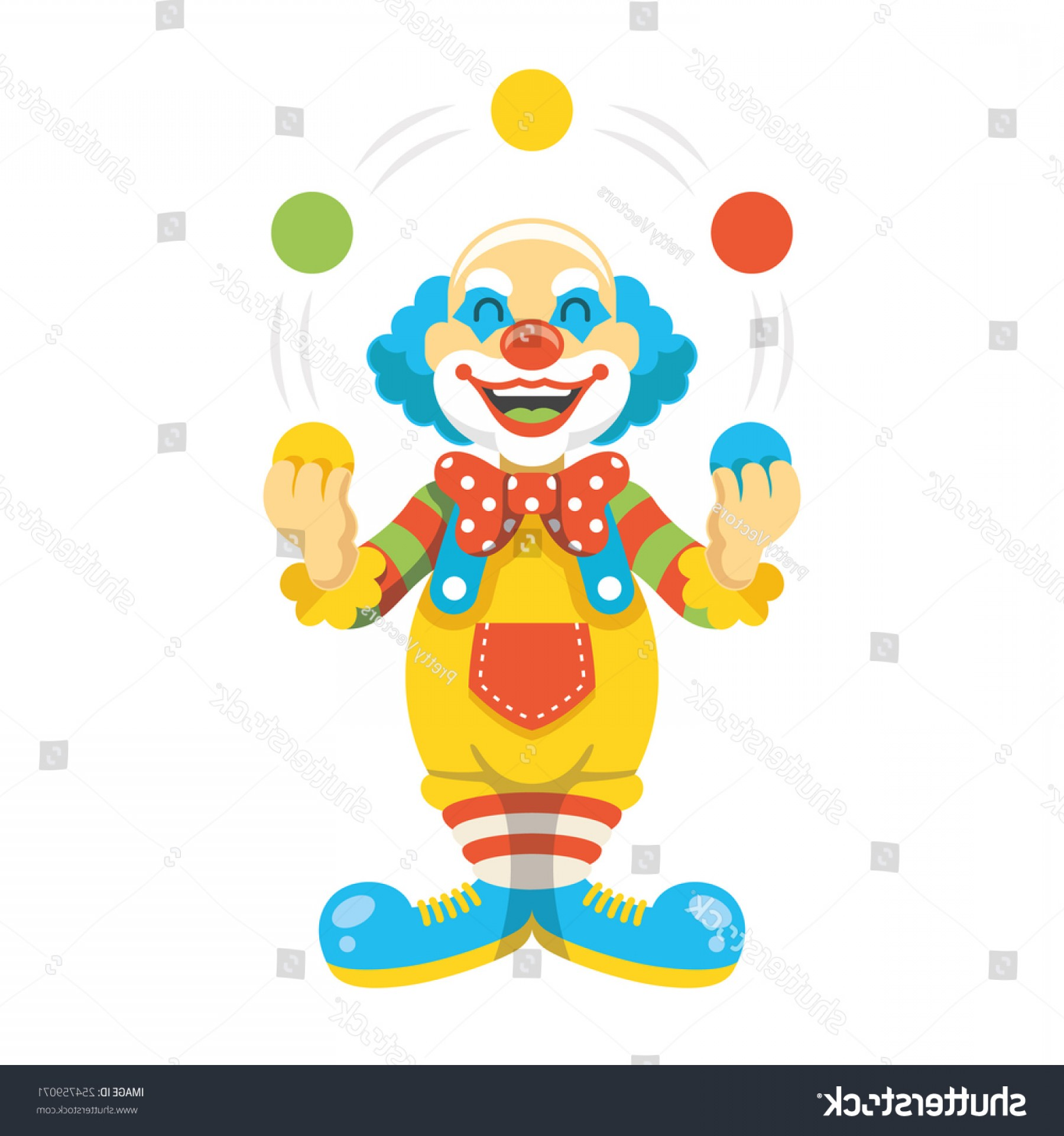 Pennywise Clown Vector: Funny Clown Character Vector Illustration Creative
