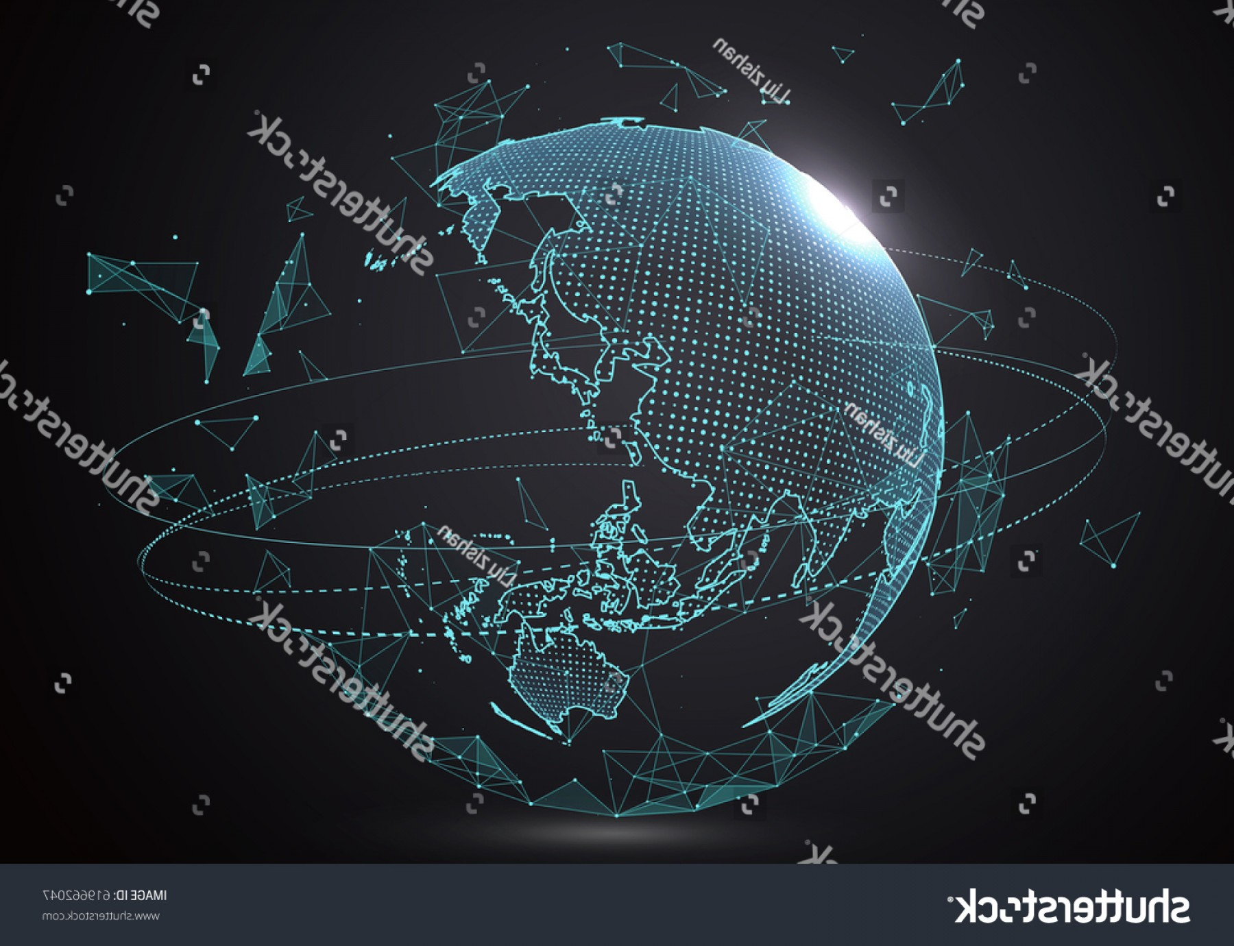 Futuristic Render Vector Graphics: Futuristic Globalization Interface Sense Science Technology