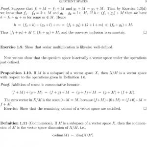 Space Vector Of Polynomials: Functional Analysis Lecture Notes Quotient Spaces
