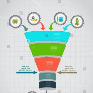 Vector Funnel Infographic: Stock Illustration Abstract Vector Infographics Business Data