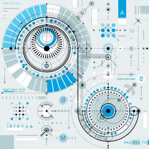 Industrial Vector Art: Future Technology Vector Drawing Industrial Wallpaper Graphic Gm