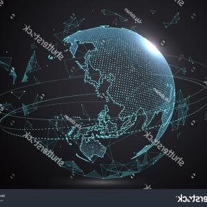 Futuristic Render Vector Graphics: Abstract Mesh Background Futuristic Vector