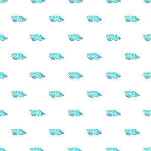 Vector Train Pattern: Futuristic Speed Train Pattern Cartoon Style Vector