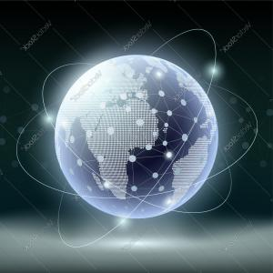 Abstract Vector Art Globe TV: Stock Photo Globe World Travel Icon