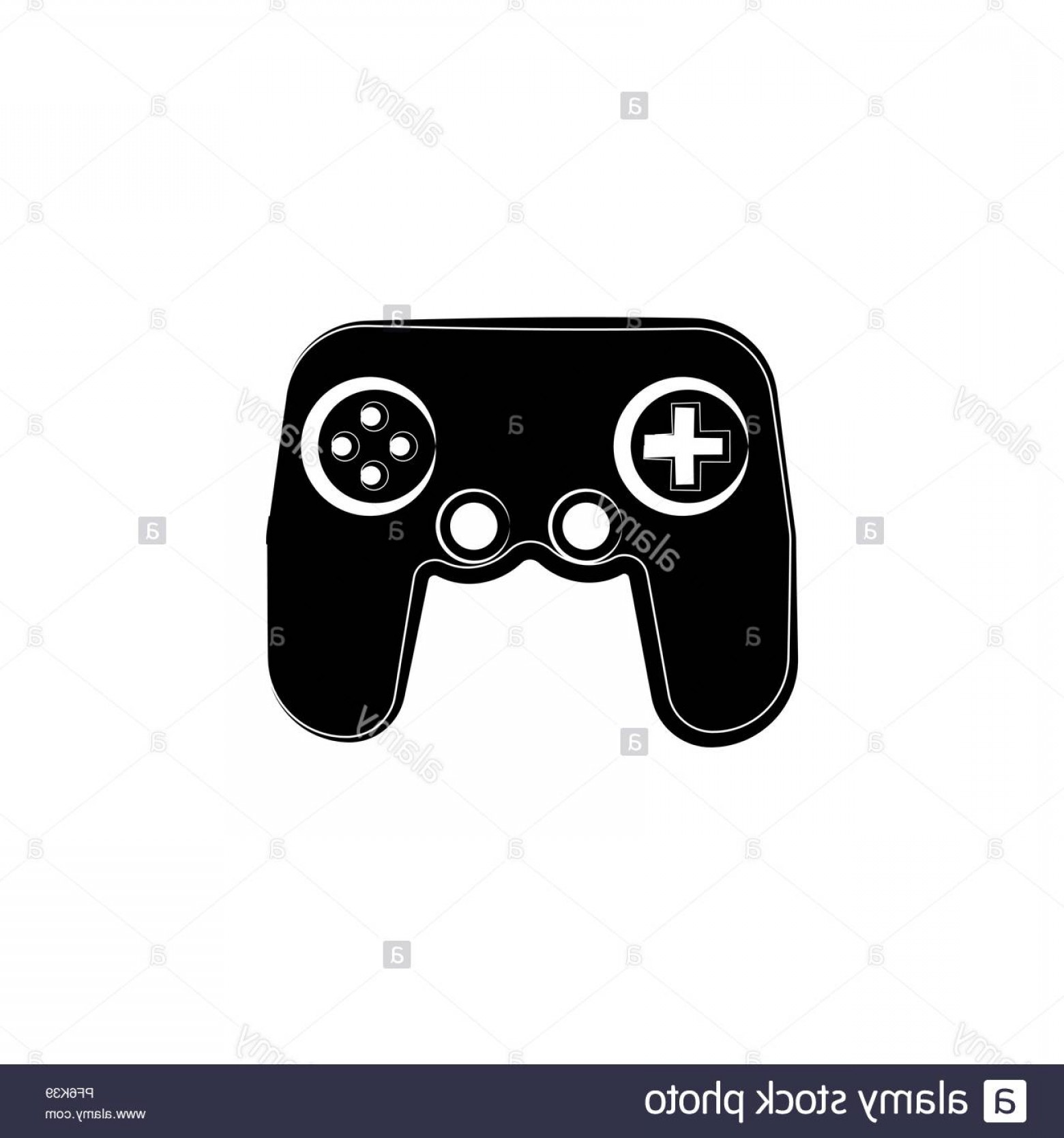 Xbox Game Controller Vector: Game Console Icon Black On White Background Image