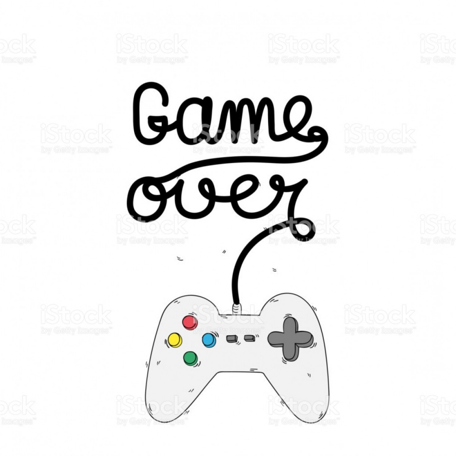 Xbox Game Controller Vector: Game Over Game Controller Background Vector Image Gm