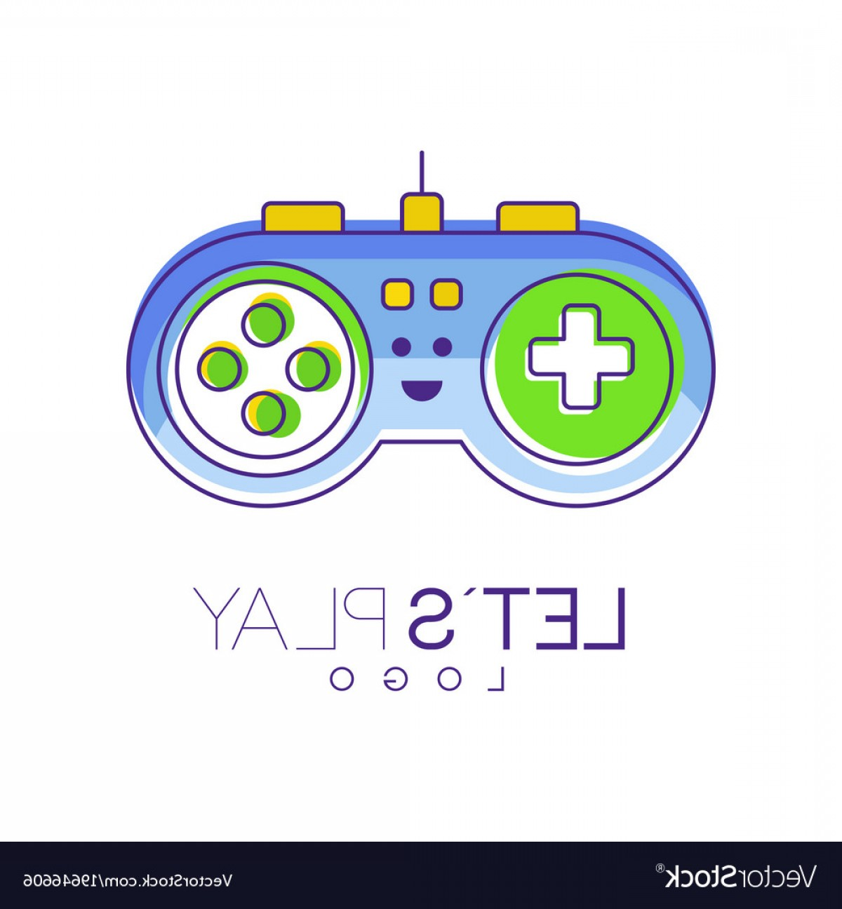 Xbox Game Controller Vector: Gamepad With Buttons To Play Gaming Controller Vector