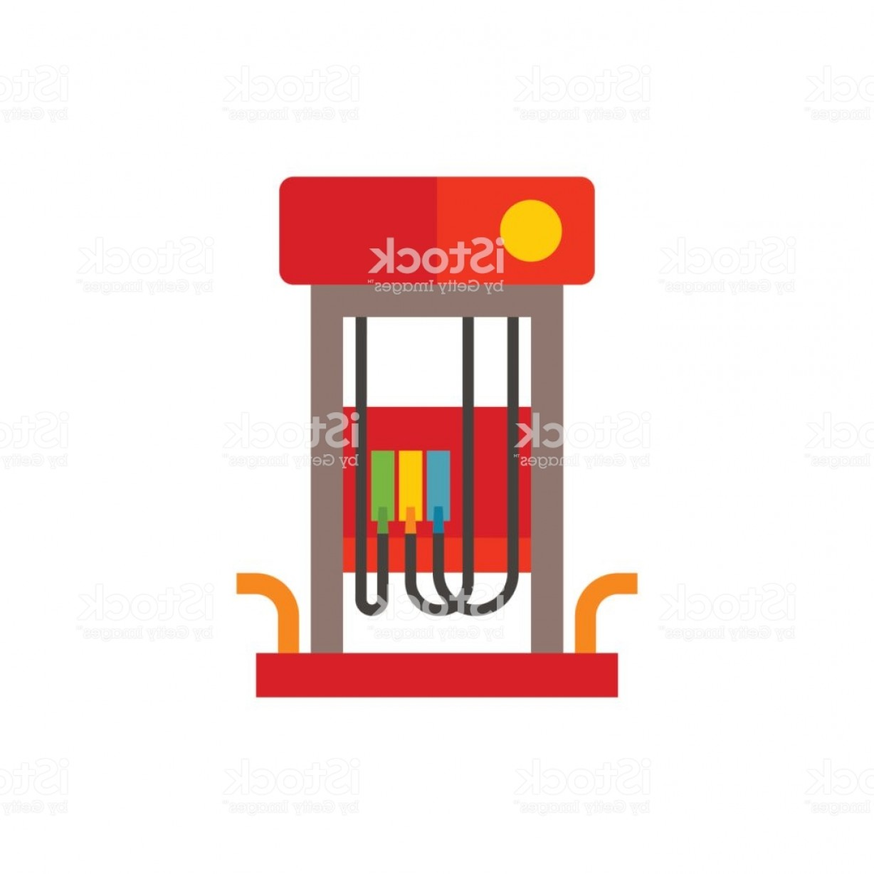 320 Vector: Gas Station Pump Vector Icon Gm
