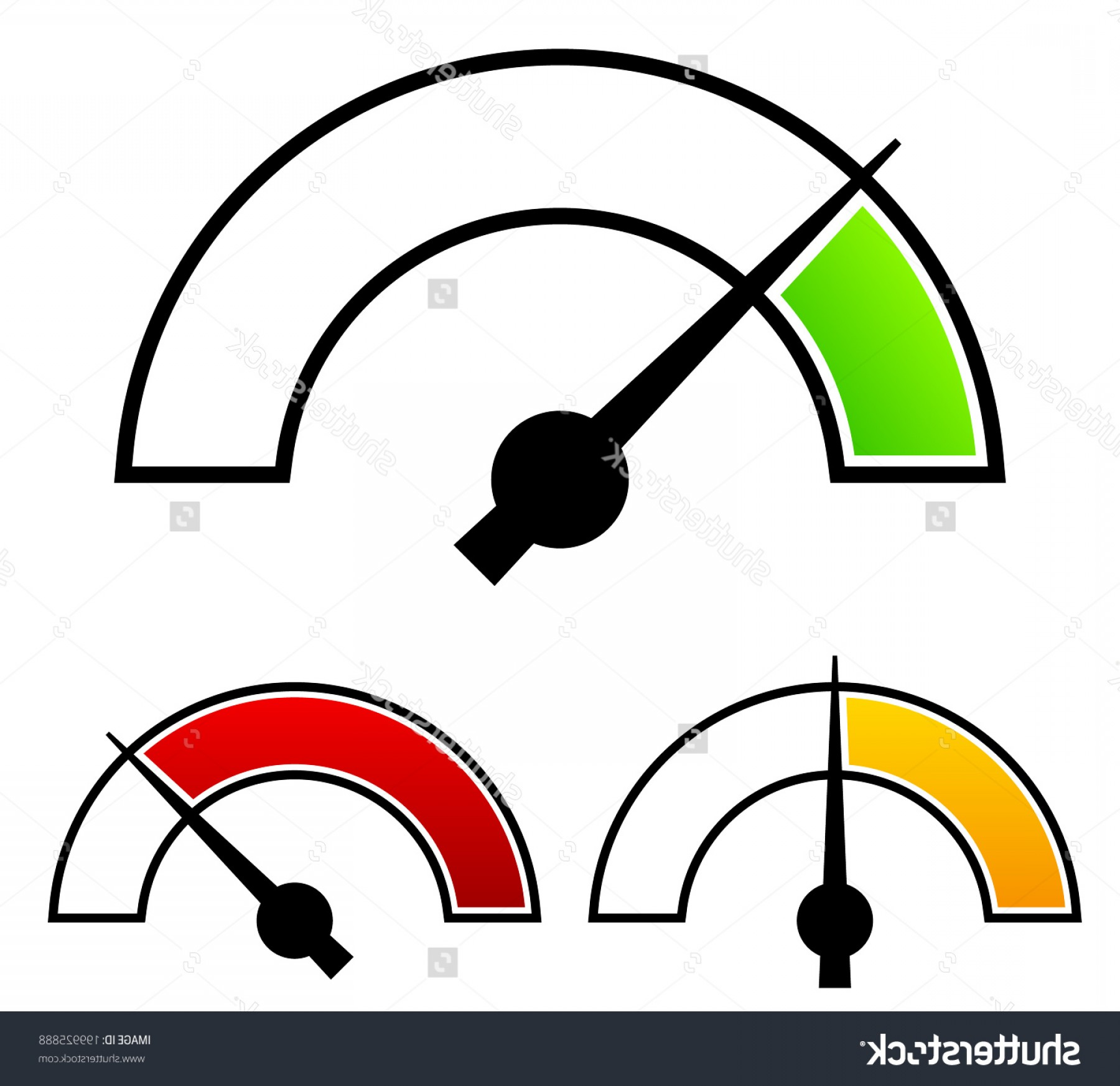Low High Meter Vector: Gauge Meter Templates Pressure Level Concepts