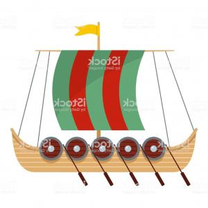 Wen Vehicle Vector Art: Galleon Icon Flat Style Gm