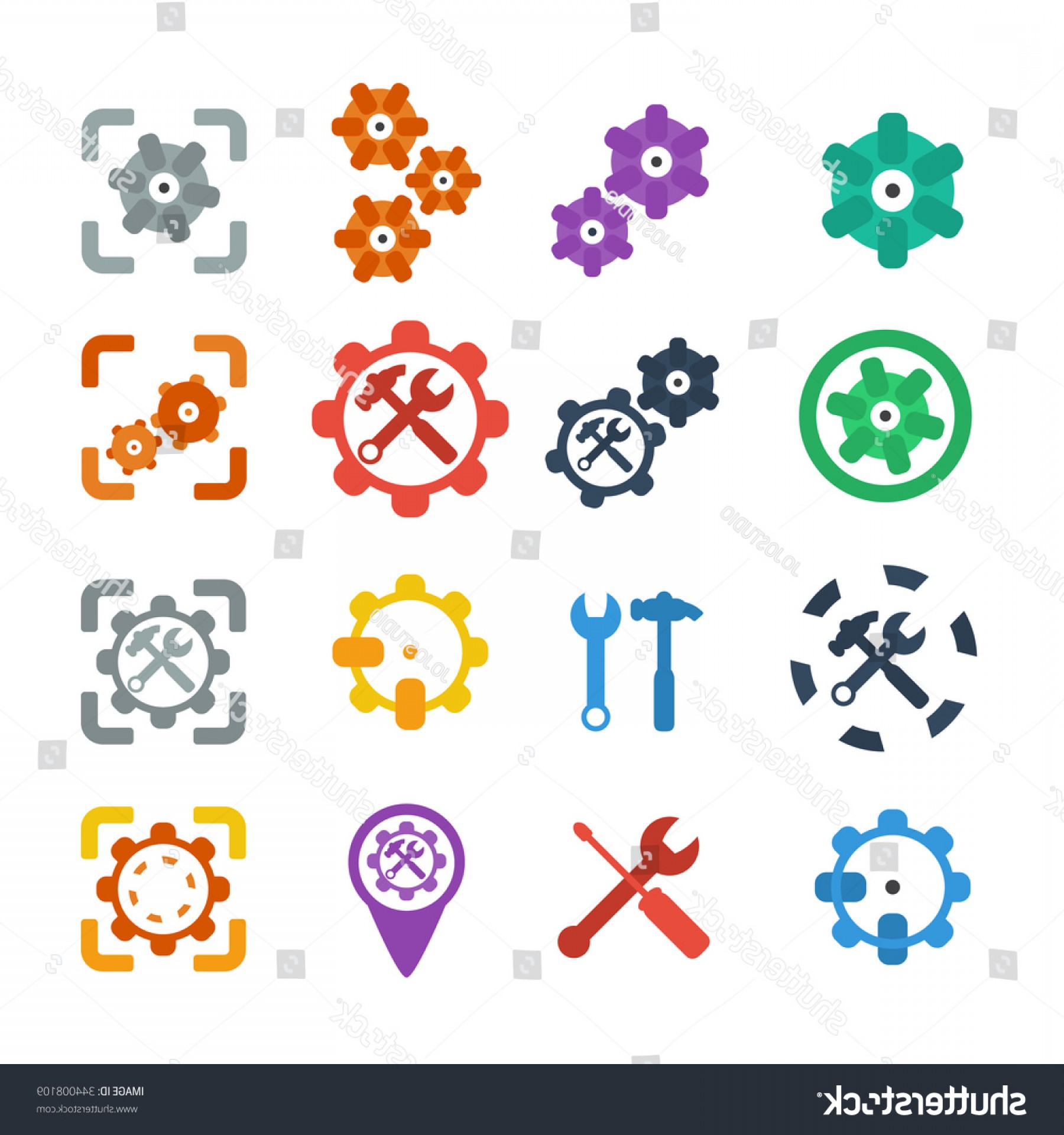 Vector Gear Graphics: Gear Icon Vector Cog Settings Symbol