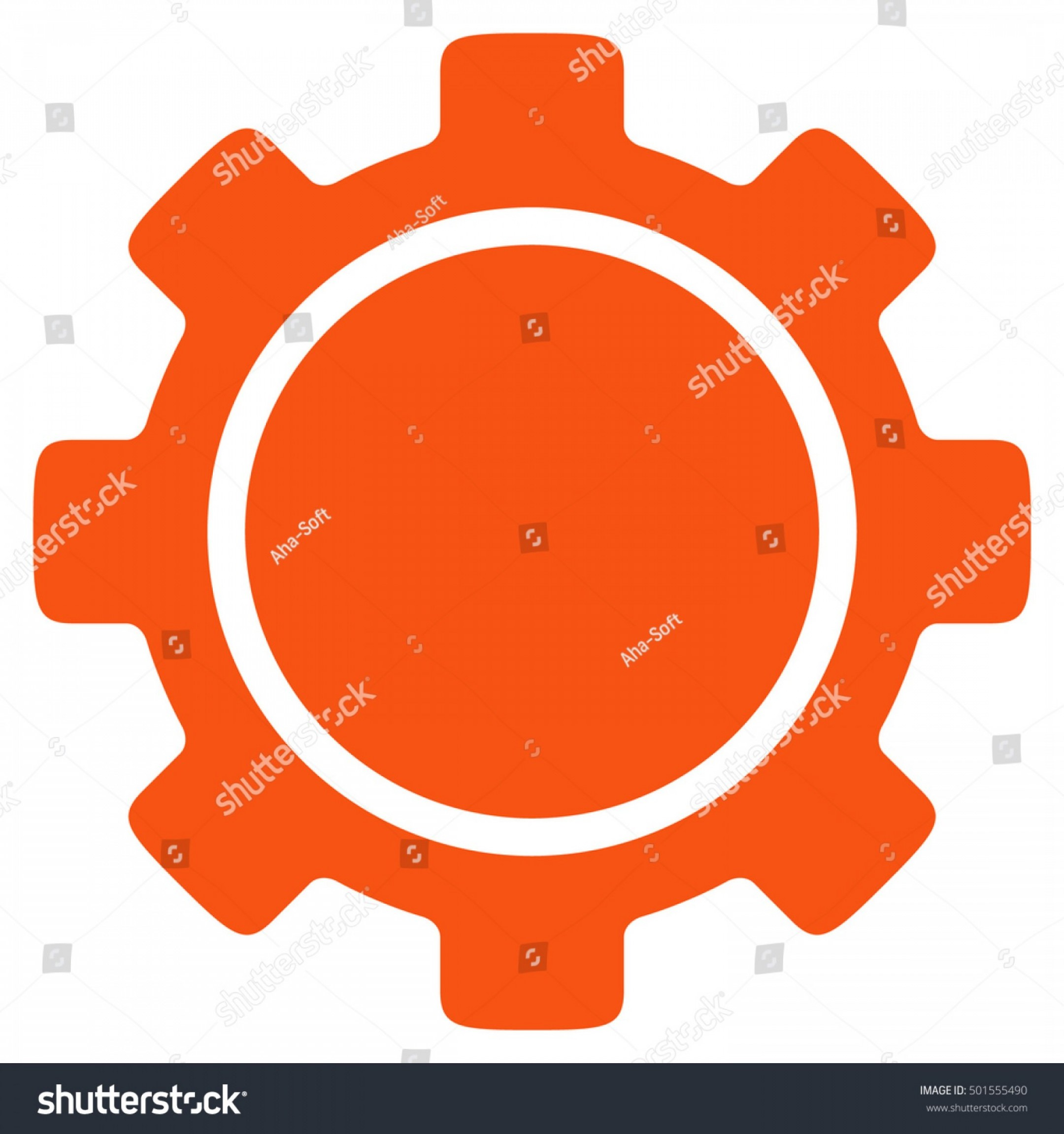 Vector Gear Graphics: Gear Vector Icon Style Flat Graphic