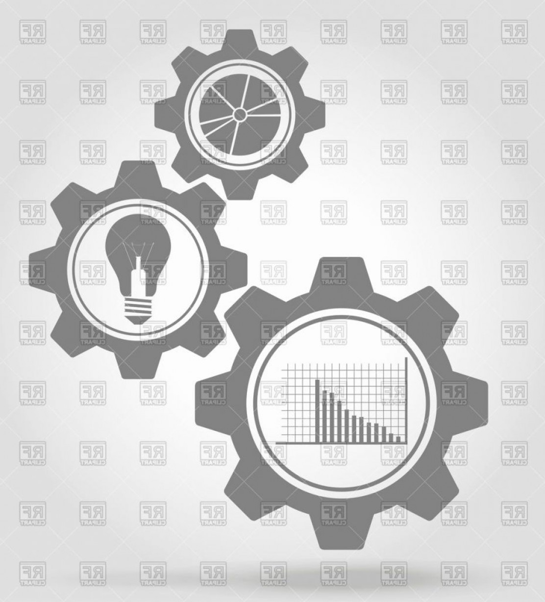 Gear Vector Icons Large: Gear Vector Luxury Business Gear Mechanism Flat Icons Vector Image Vector Artwork Of