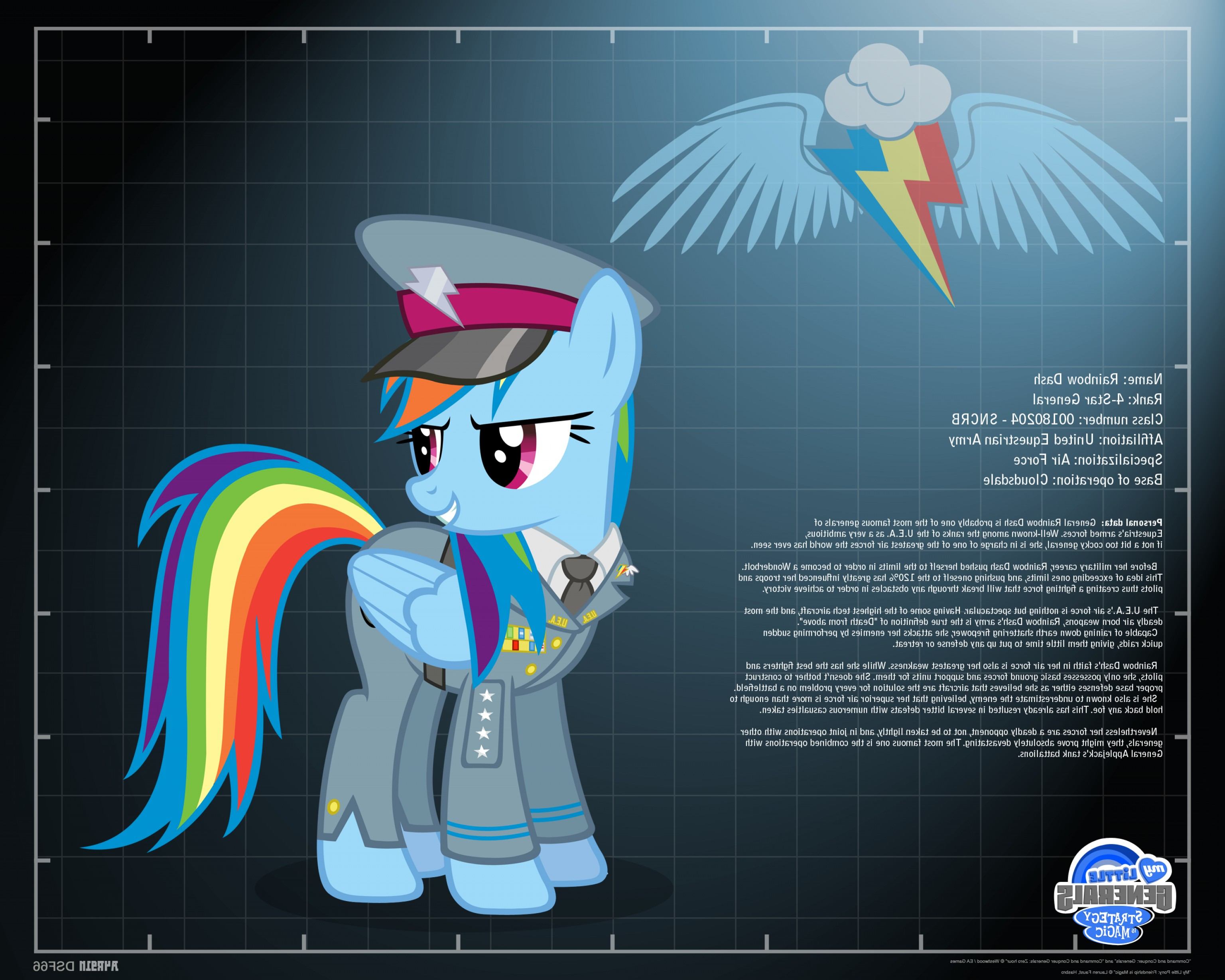 MLP Tank Flying Vector: General Rainbow Dash Profile Info