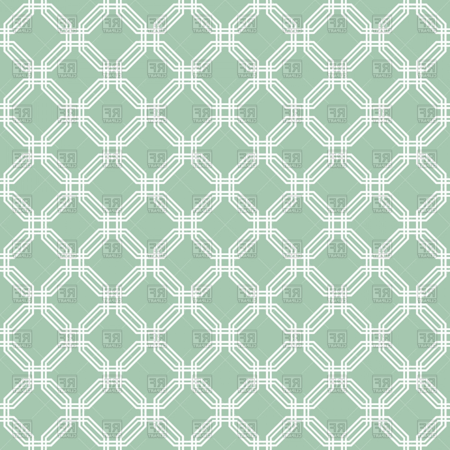 Geometric Vector B2: Geometric Green Seamless Pattern Vector Clipart
