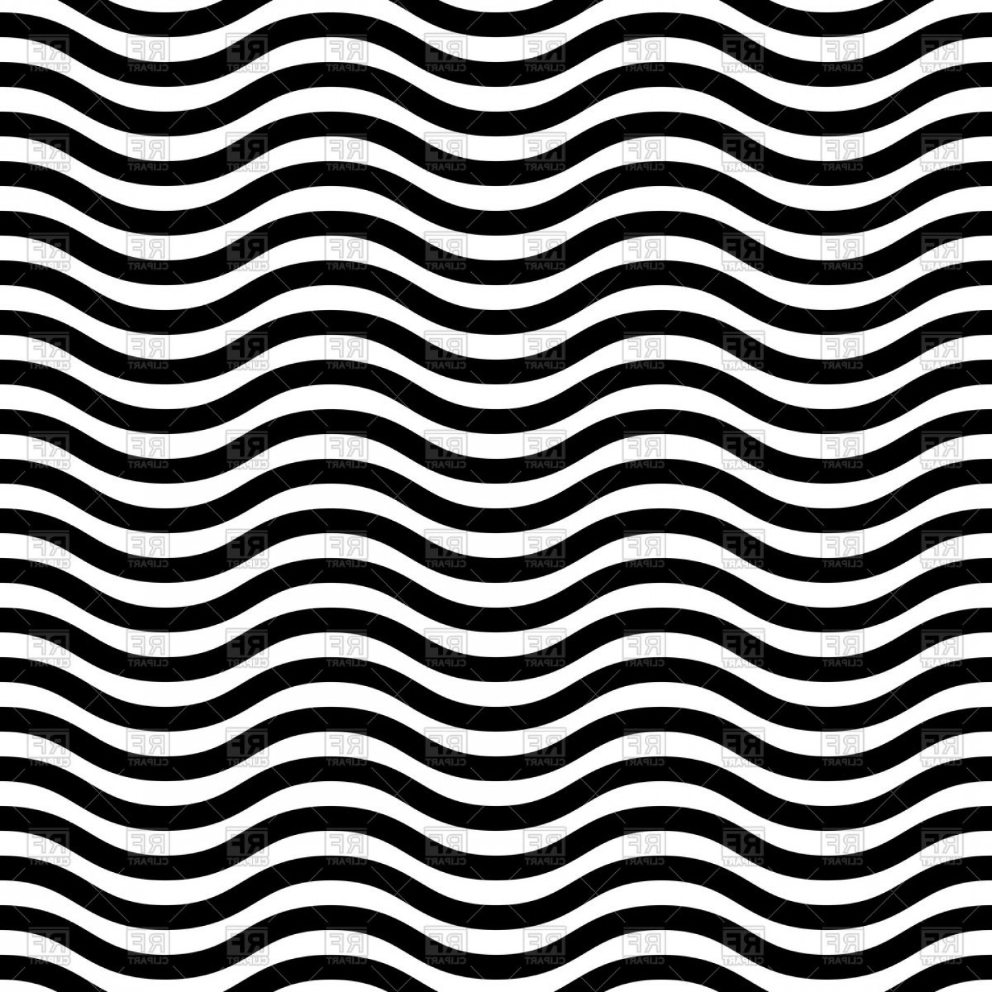 Wavy Line Illustrator Vector: Geometric Seamless Pattern With Black And White Wavy Lines Vector Clipart