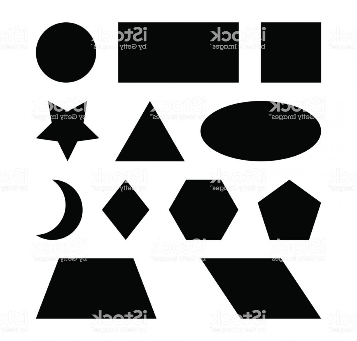 Sign Shapes Vector Art: Geometric Shapes Vector Symbol Icon Design Gm