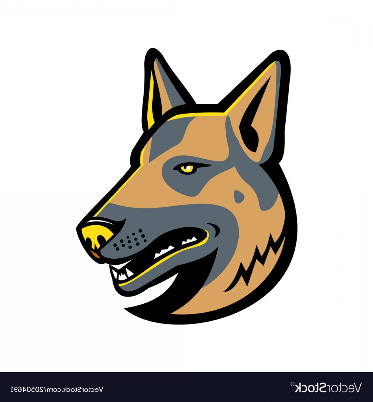 Dog Mascot Vector: German Shepherd Dog Mascot Vector
