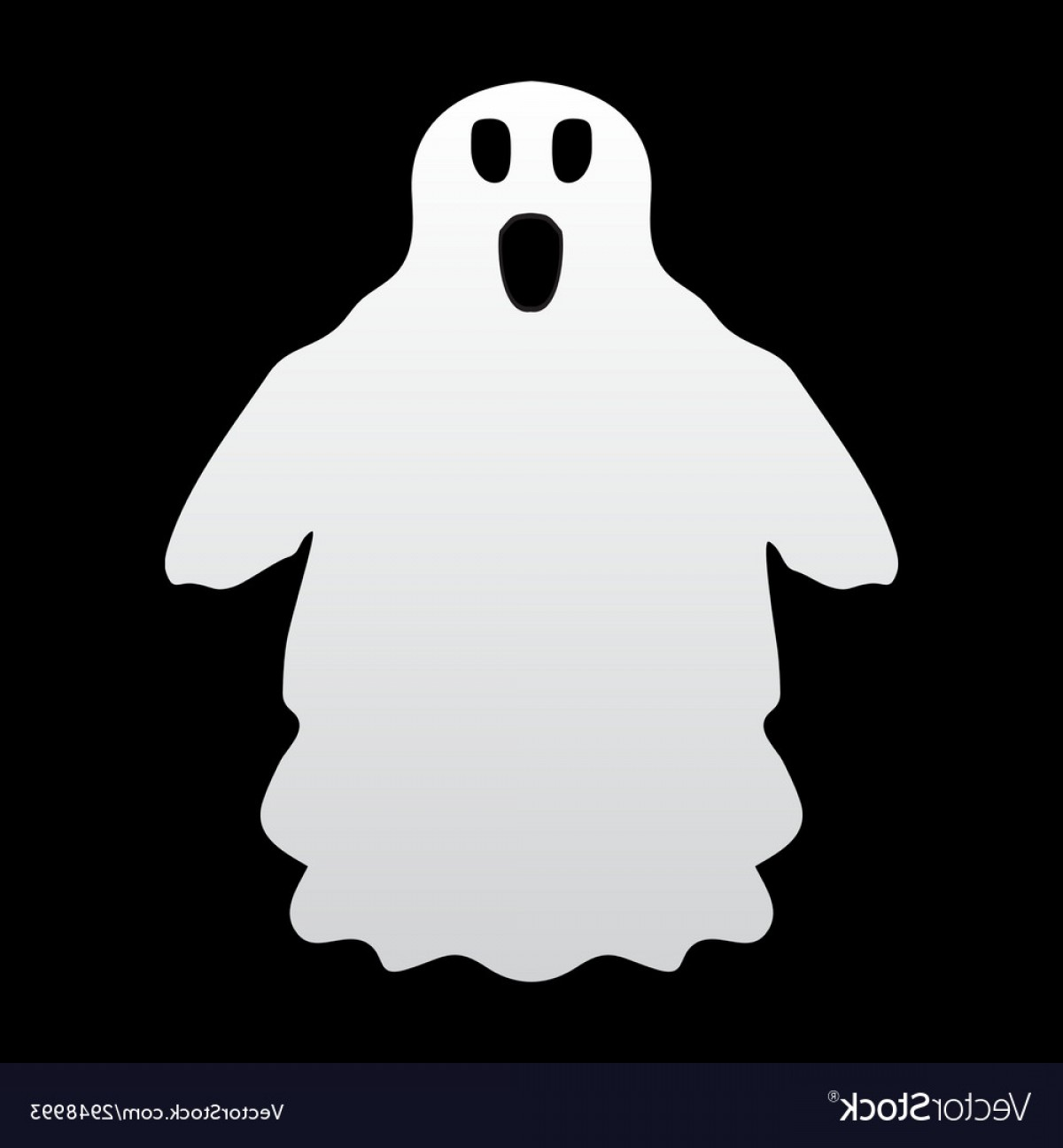 Ghost Vector Black: Ghost On A Black Background Vector