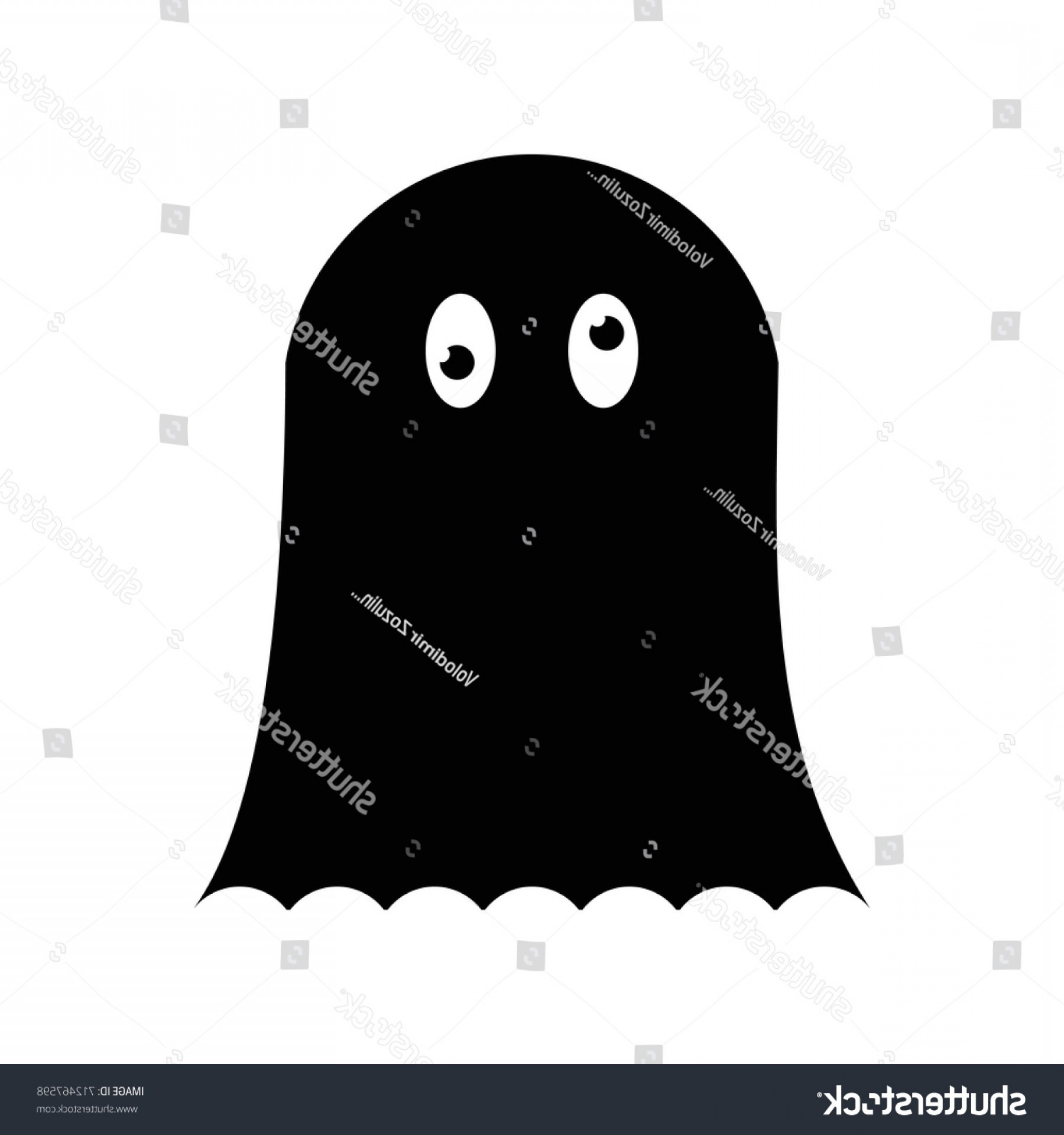 Ghost Vector Black: Ghost Vector Black Icon On White