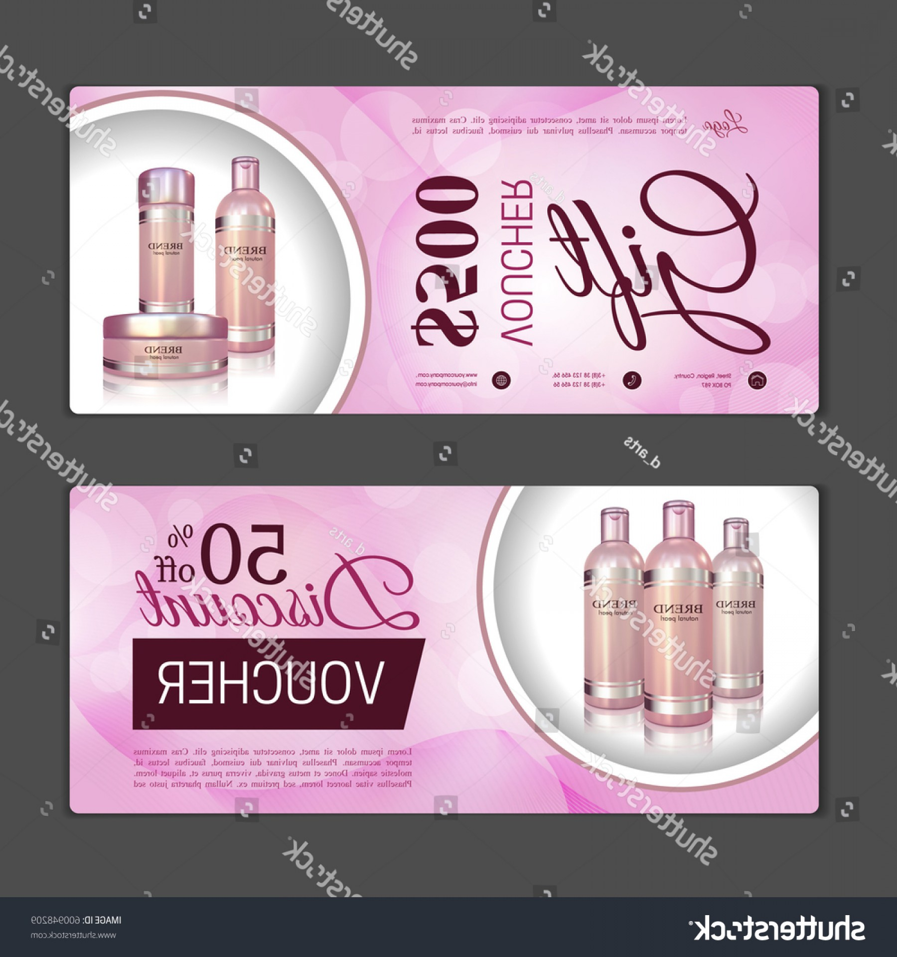 Victoria's Secret Pink Vector: Gift Voucher Template Can Be Use