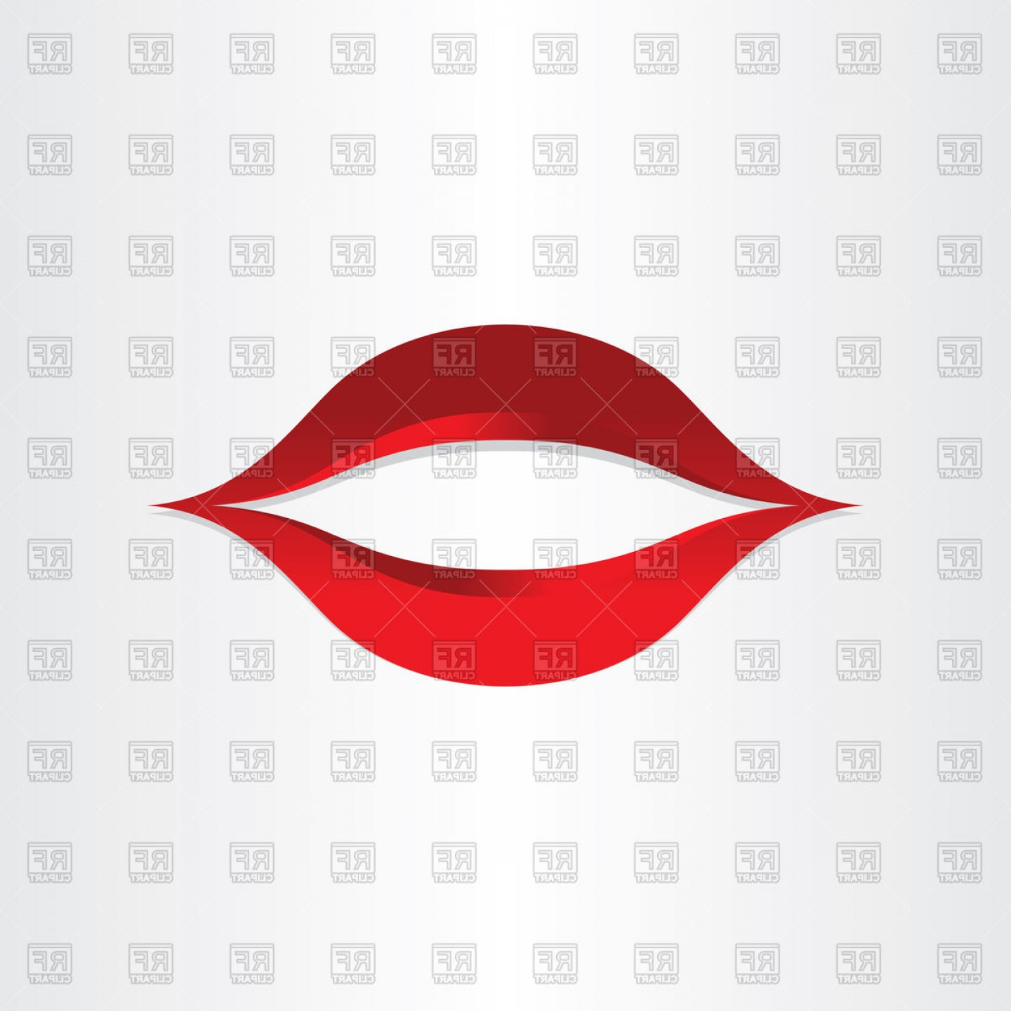 Kiss Clip Art Vector: Girl Mouth Kiss Lips Icon Vector Clipart