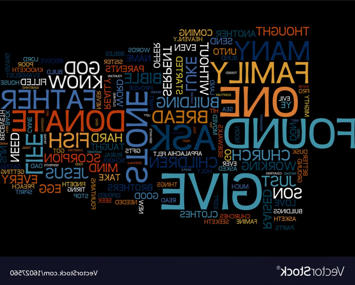 Appalachia Vector: Give Him A Stone Text Background Word Cloud Vector