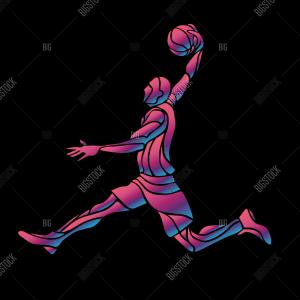 Basketball Player Silhouette Vector Illustration: Girl Basketball Silhouette Vector
